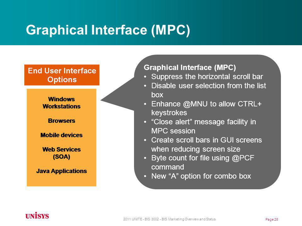 Graphical Interface (MPC)