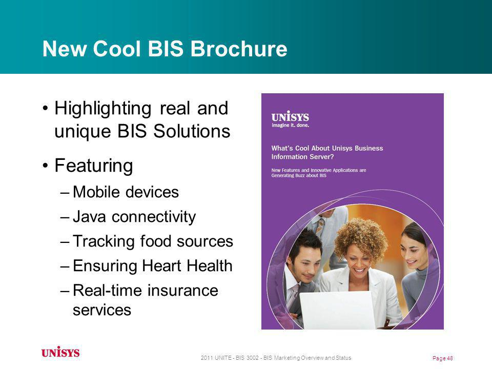 New Cool BIS Brochure Highlighting real and unique BIS Solutions