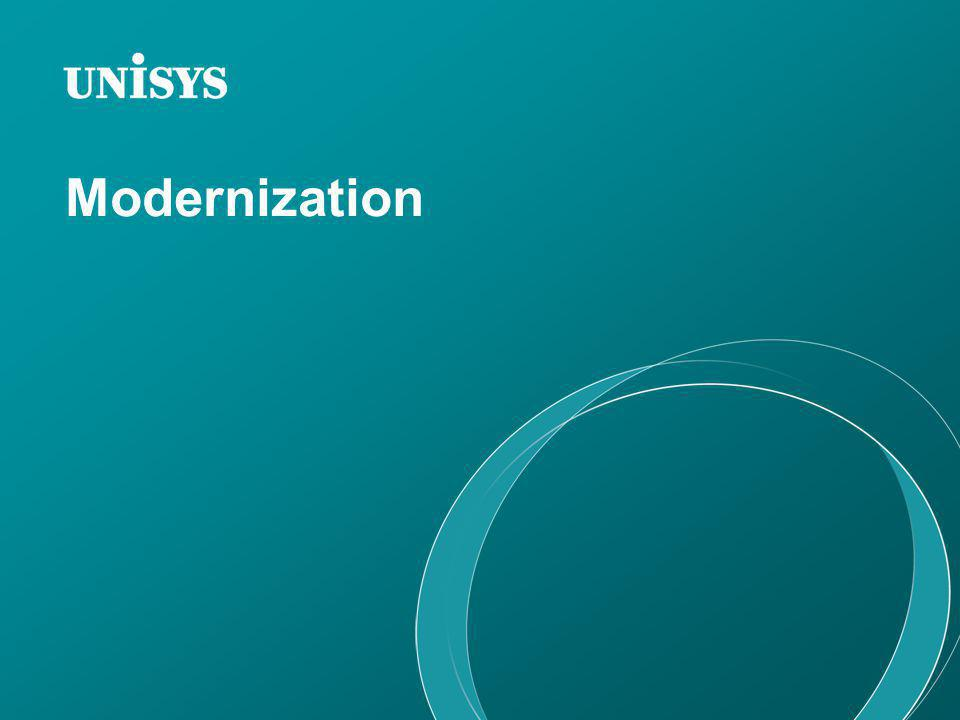 Modernization The main reason for leveraging mainframe and mainstream is modernization.