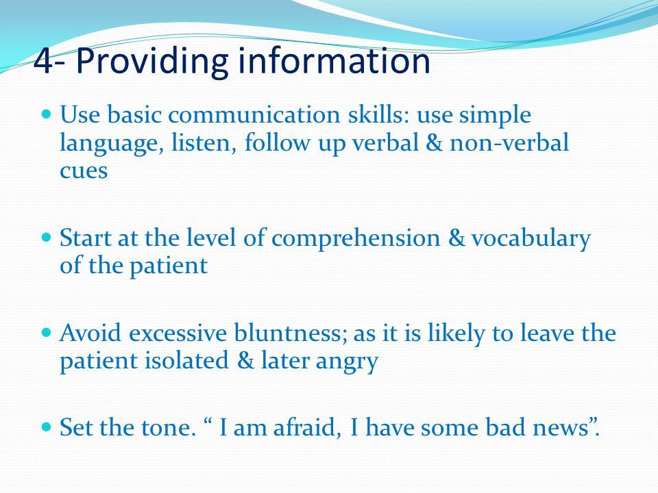 4- Providing information