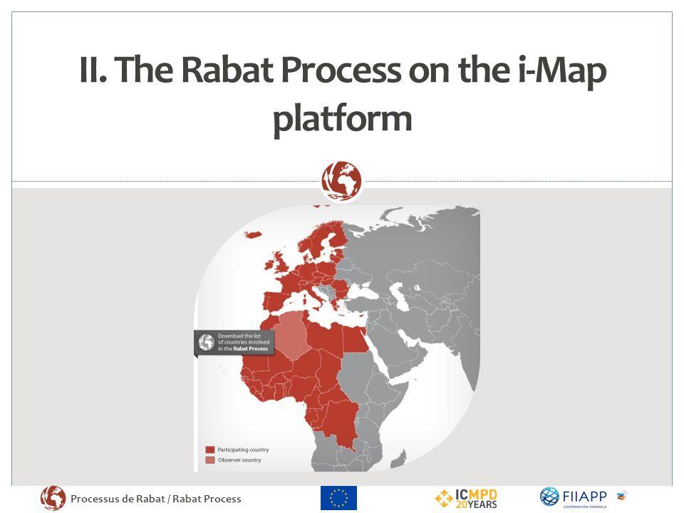 II. The Rabat Process on the i-Map platform