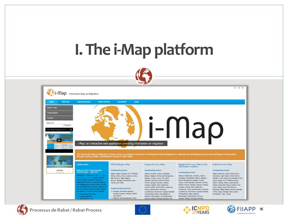 I. The i-Map platform