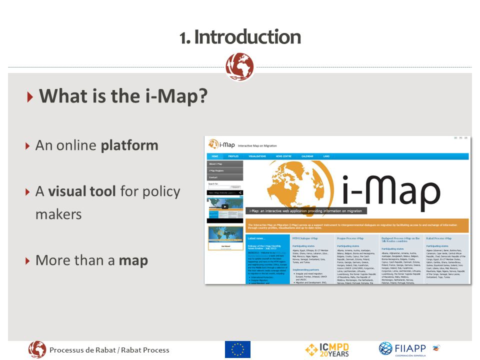1. Introduction What is the i-Map An online platform