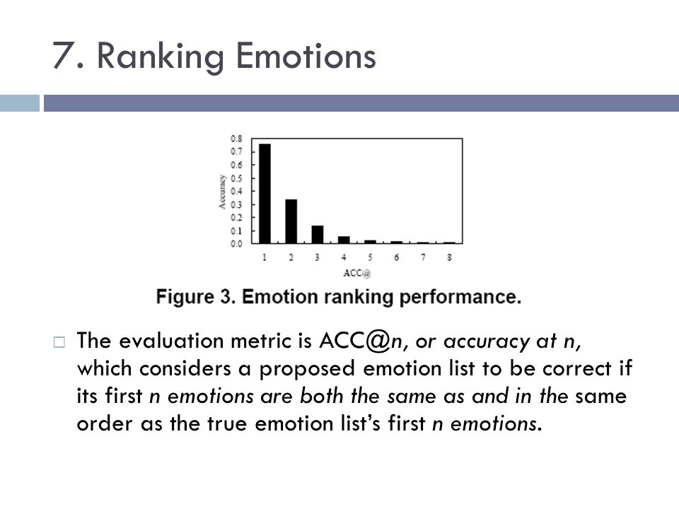 7. Ranking Emotions