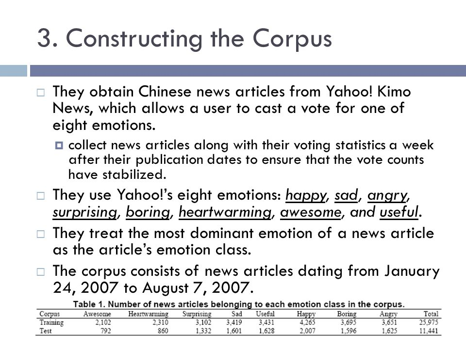 3. Constructing the Corpus