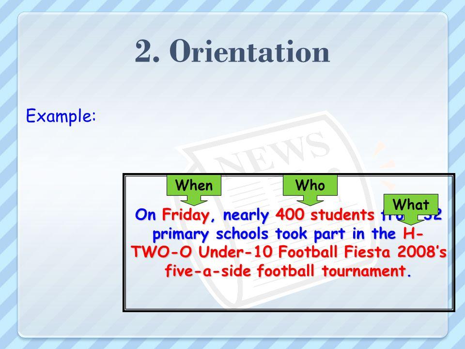 2. Orientation Example: