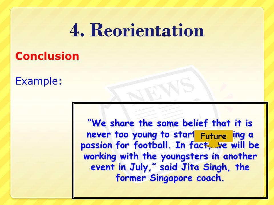4. Reorientation Conclusion Example: