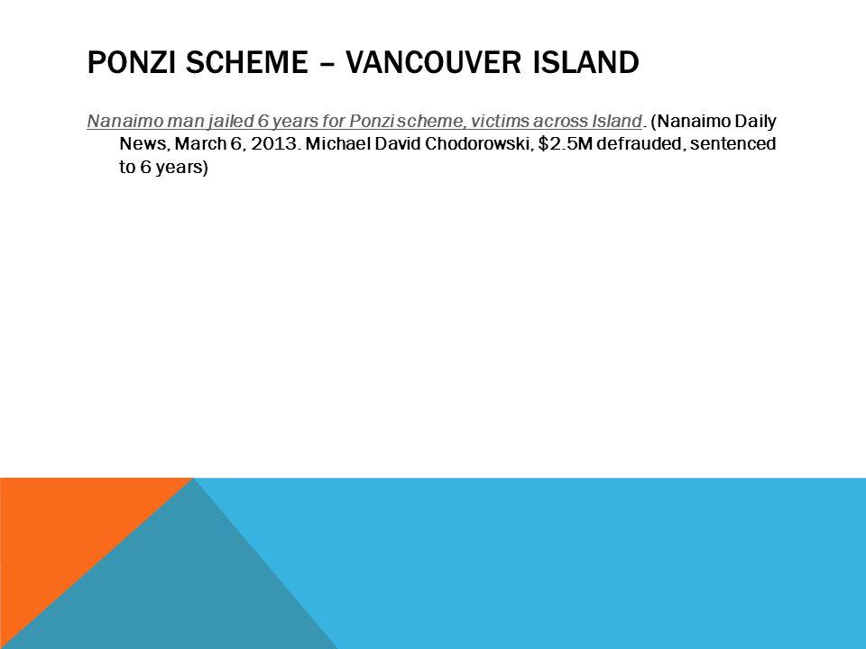 Ponzi Scheme – Vancouver Island