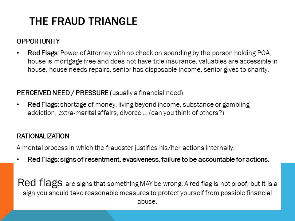 The Fraud Triangle OPPORTUNITY.
