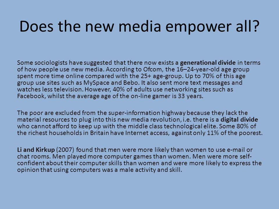 Does the new media empower all