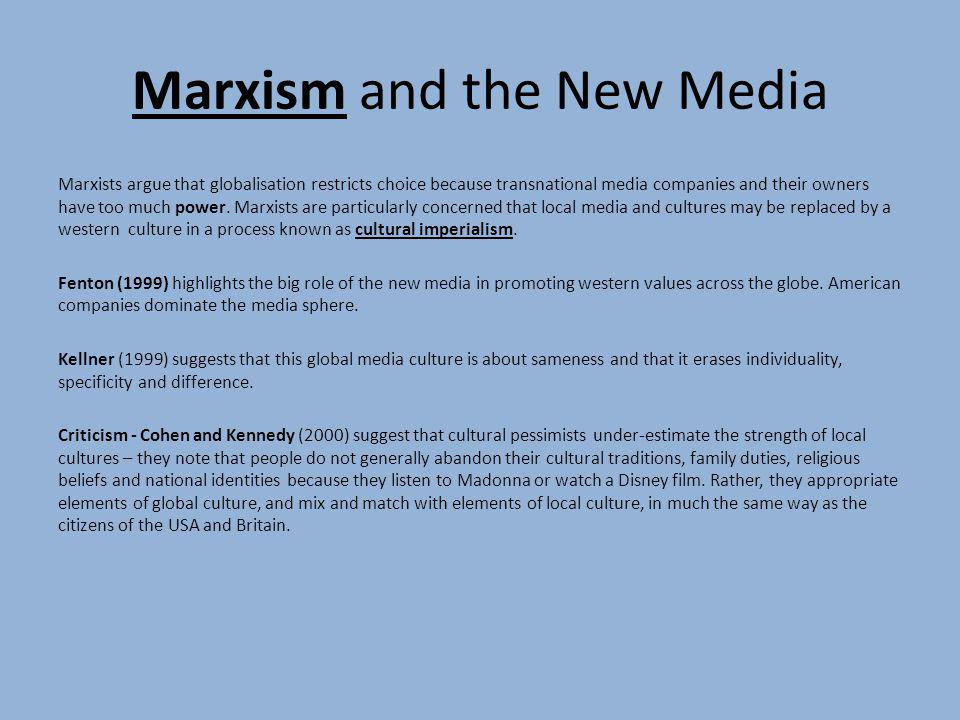 Marxism and the New Media