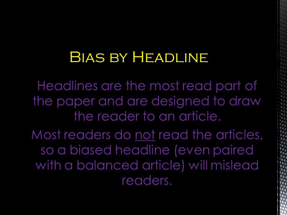 Bias by Headline