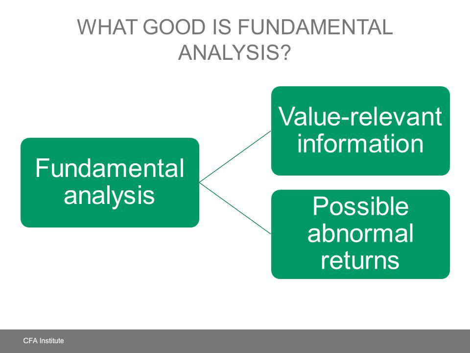 What Good Is Fundamental Analysis