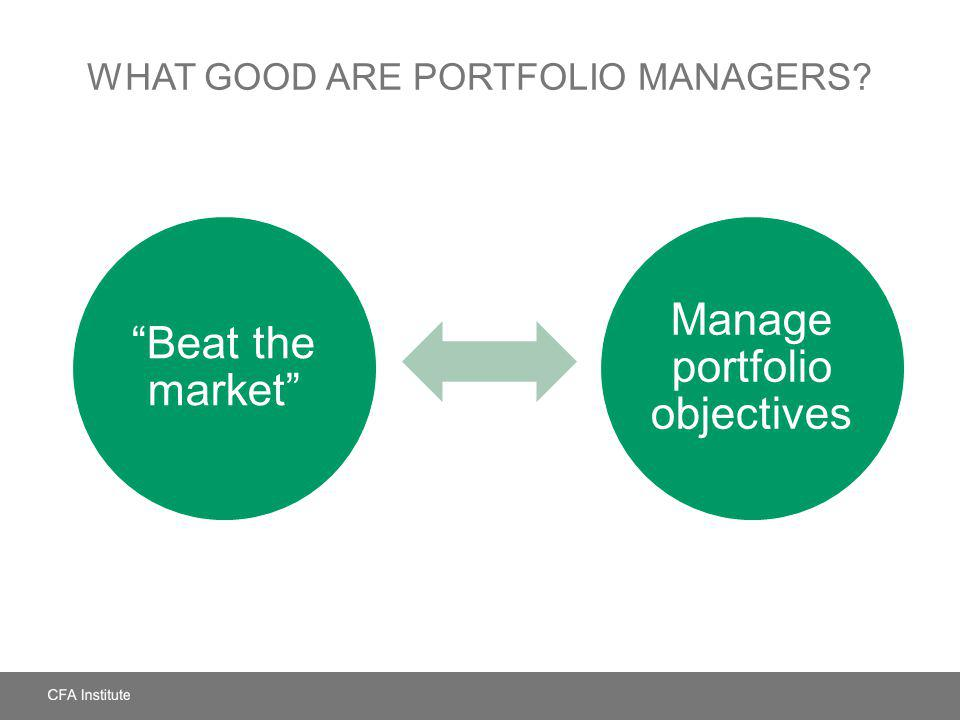 What Good Are Portfolio Managers