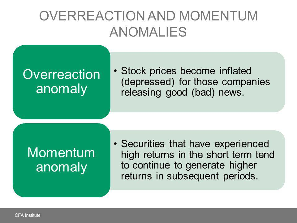 Overreaction and Momentum Anomalies