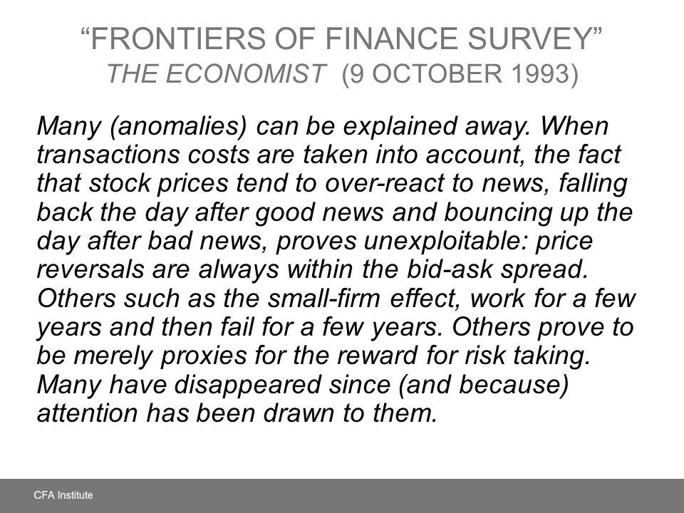 Frontiers of Finance Survey The Economist (9 October 1993)