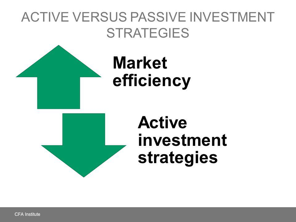 Active versus Passive Investment Strategies