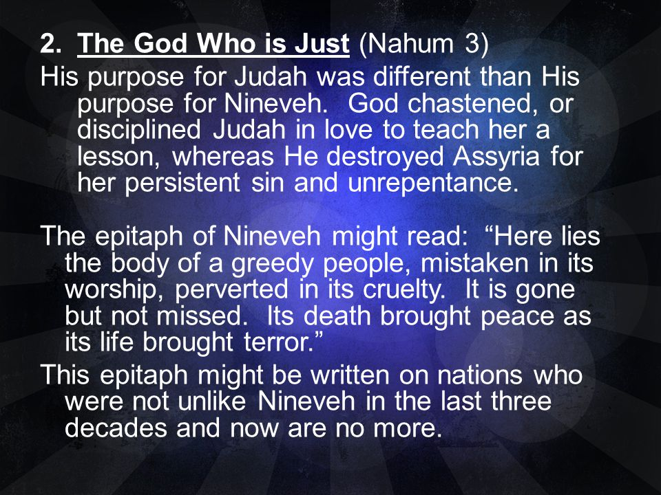 The God Who is Just (Nahum 3)