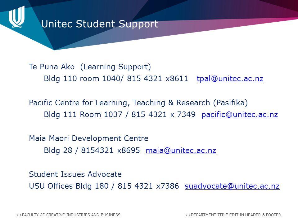 Unitec Student Support