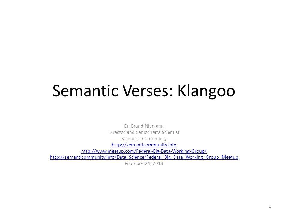 Semantic Verses: Klangoo