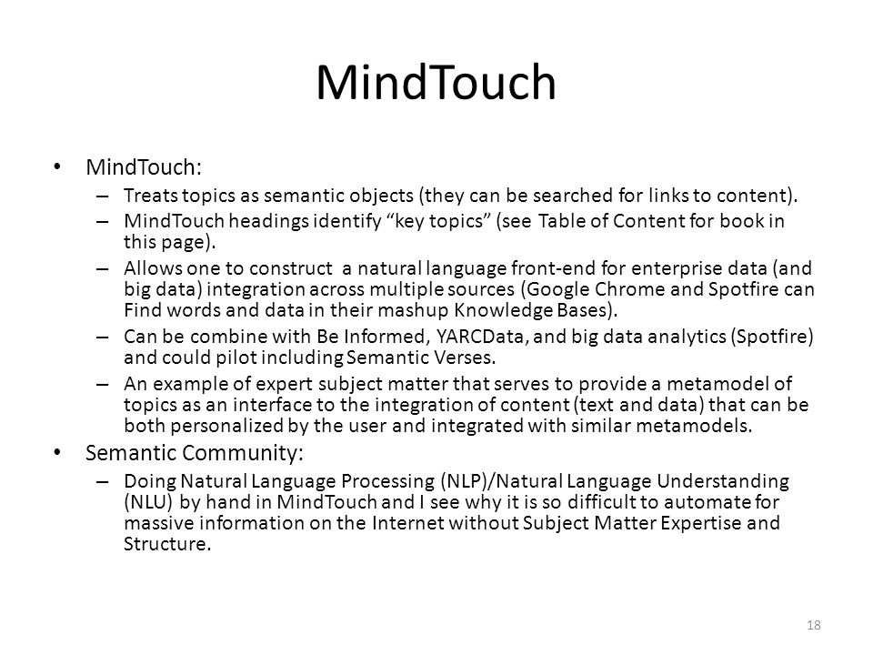 MindTouch MindTouch: Semantic Community: