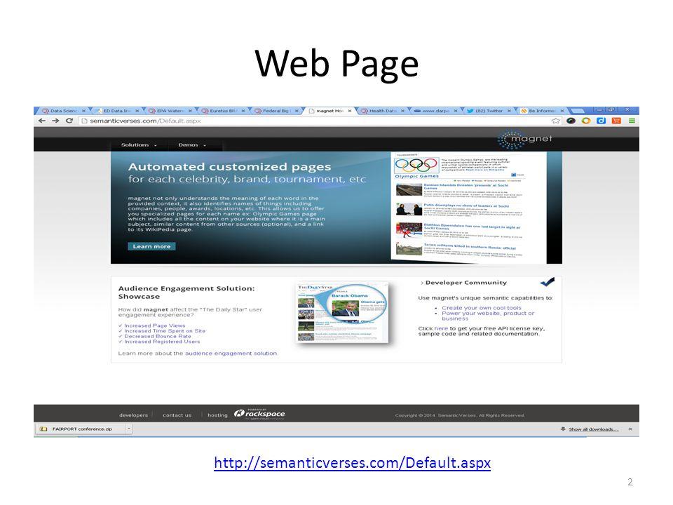 Web Page http://semanticverses.com/Default.aspx