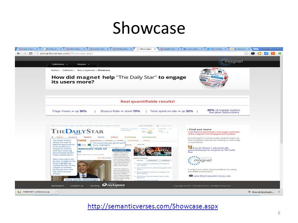 Showcase http://semanticverses.com/Showcase.aspx