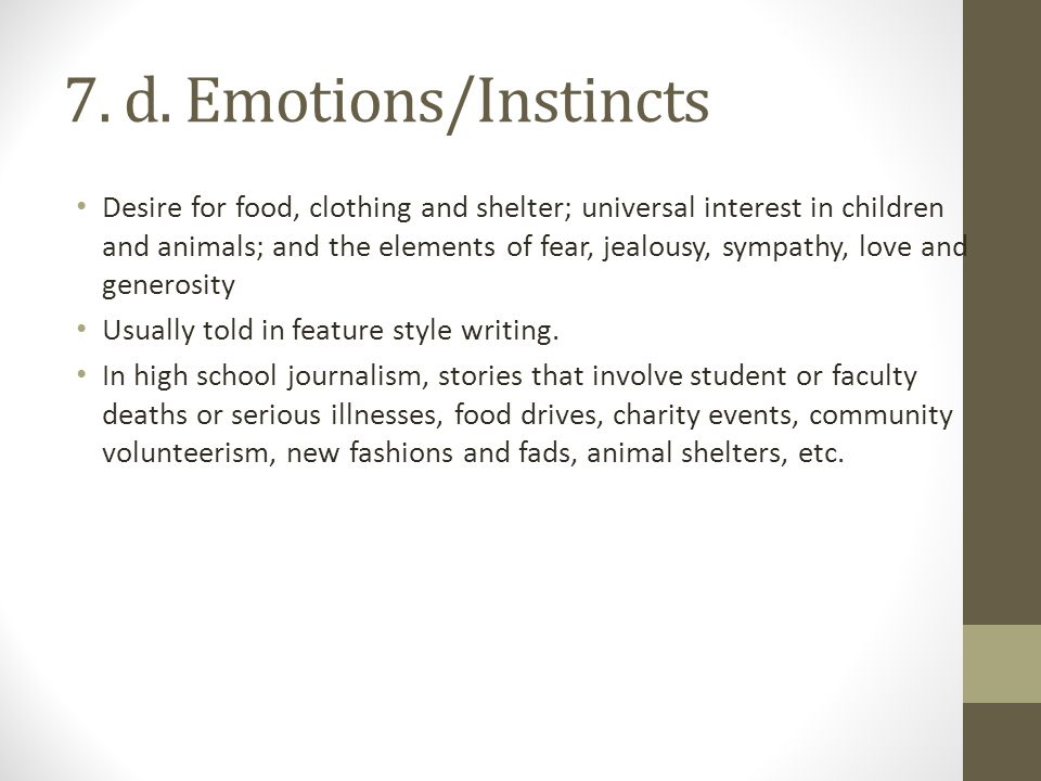 7. d. Emotions/Instincts