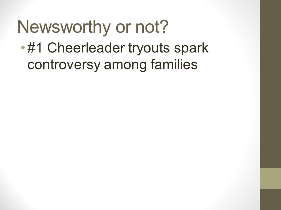 Newsworthy or not #1 Cheerleader tryouts spark controversy among families