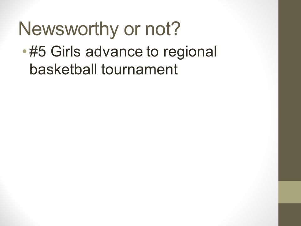 Newsworthy or not #5 Girls advance to regional basketball tournament