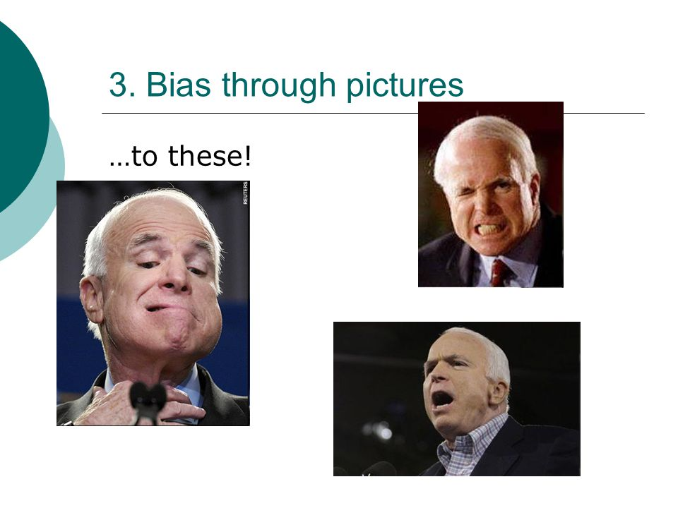 3. Bias through pictures …to these!