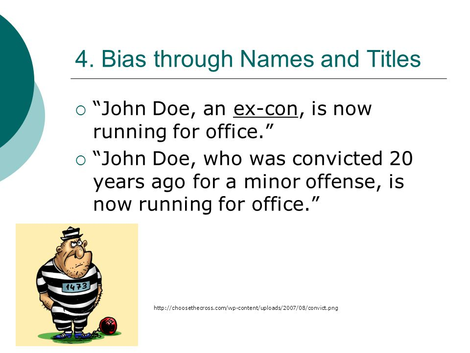 4. Bias through Names and Titles