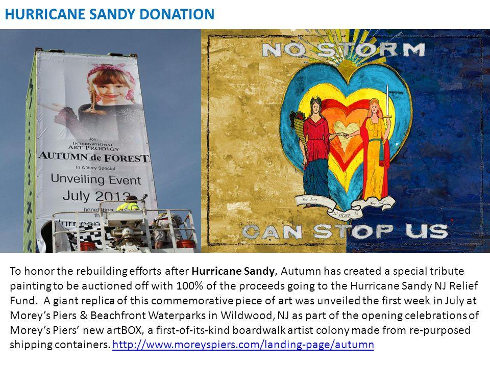 HURRICANE SANDY DONATION