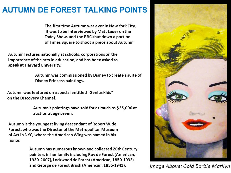 AUTUMN DE FOREST TALKING POINTS