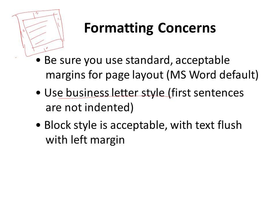 Formatting Concerns