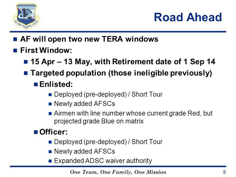 Road Ahead AF will open two new TERA windows First Window:
