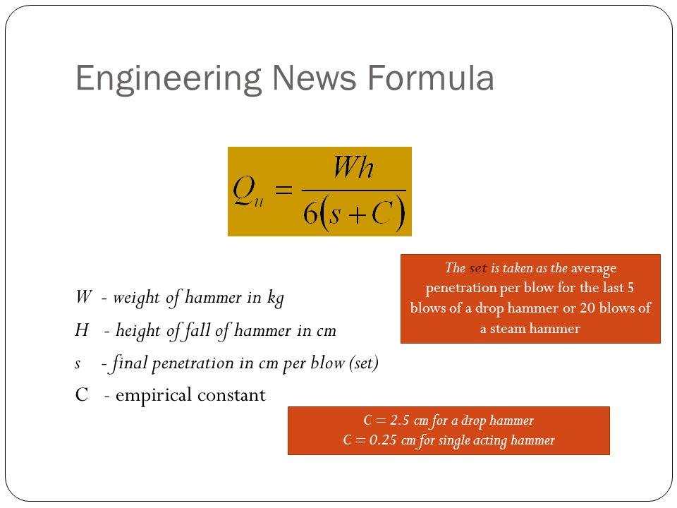 Engineering News Formula