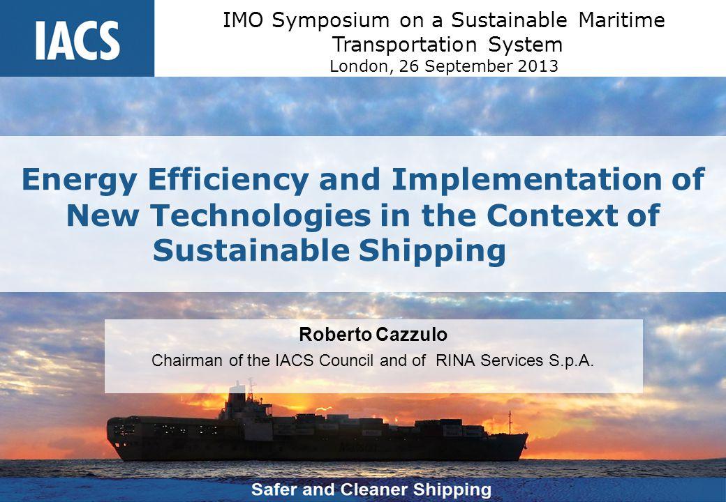 IMO Symposium on a Sustainable Maritime