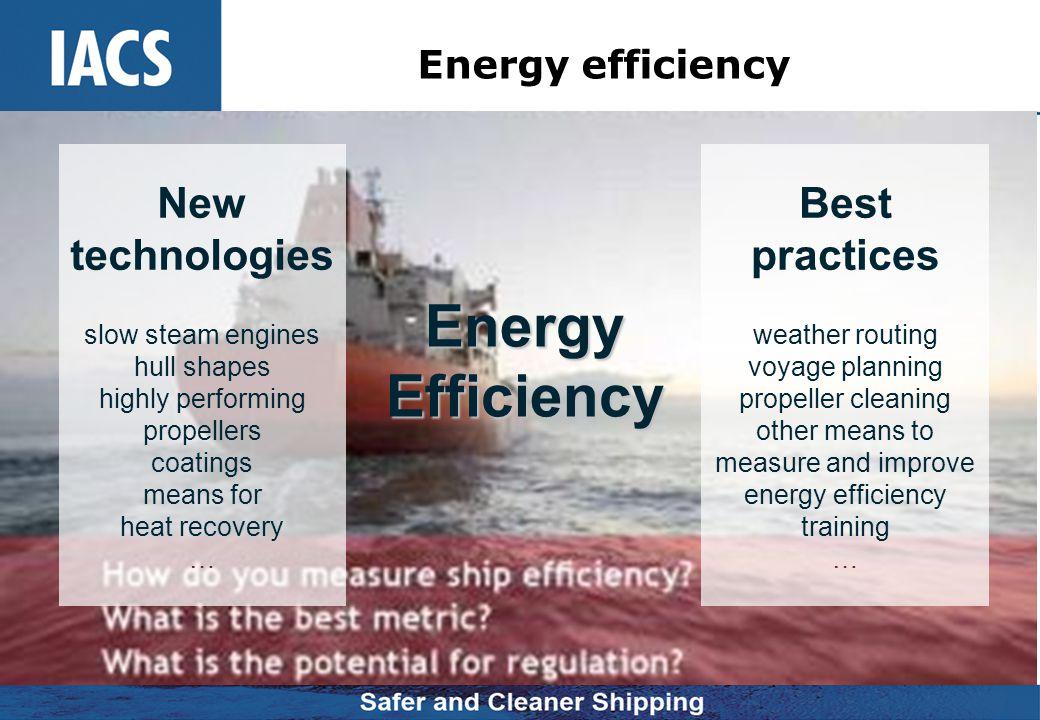 Energy Efficiency New technologies Best practices Energy efficiency