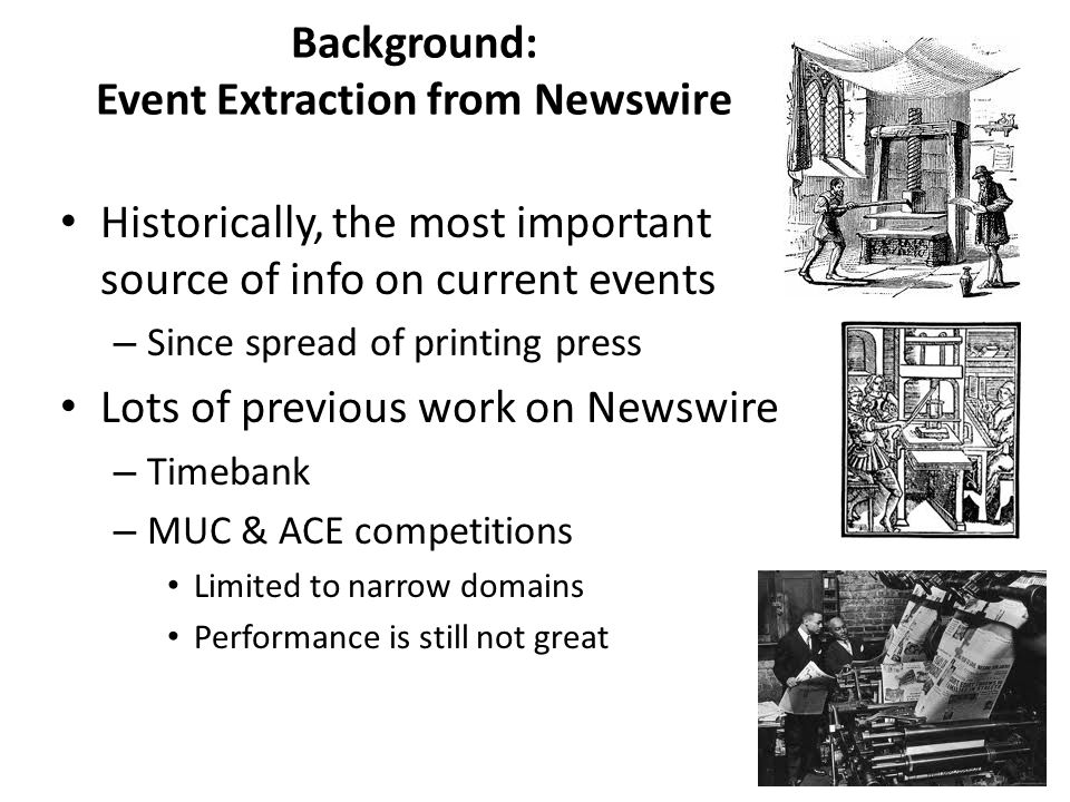 Background: Event Extraction from Newswire