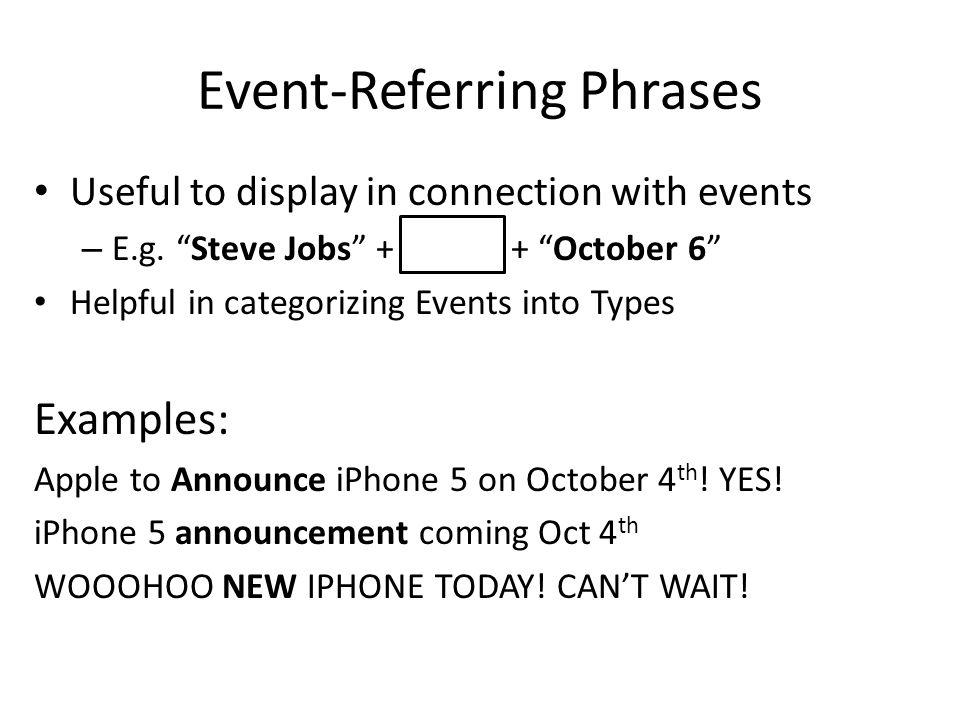 Event-Referring Phrases