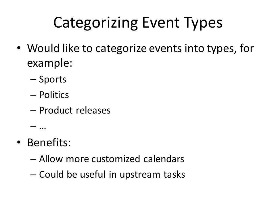 Categorizing Event Types