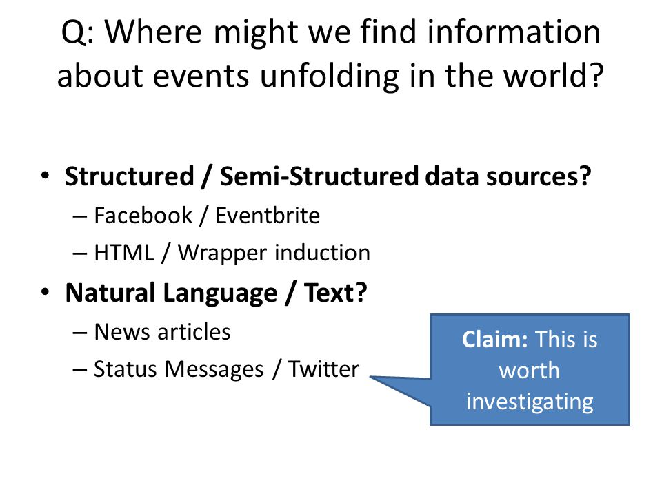 Claim: This is worth investigating
