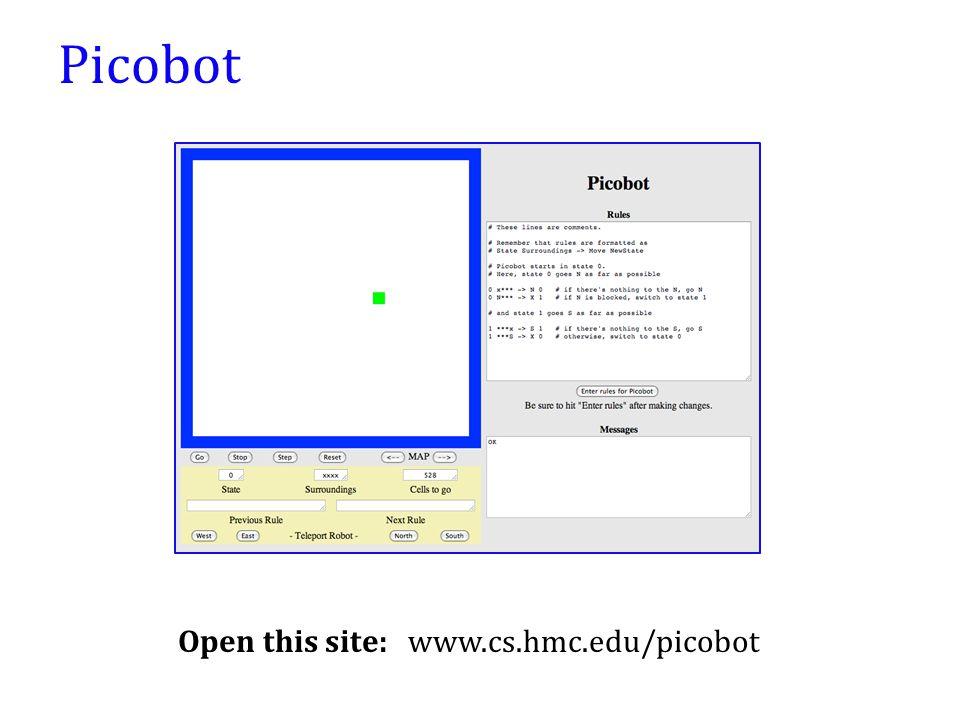 Open this site: www.cs.hmc.edu/picobot