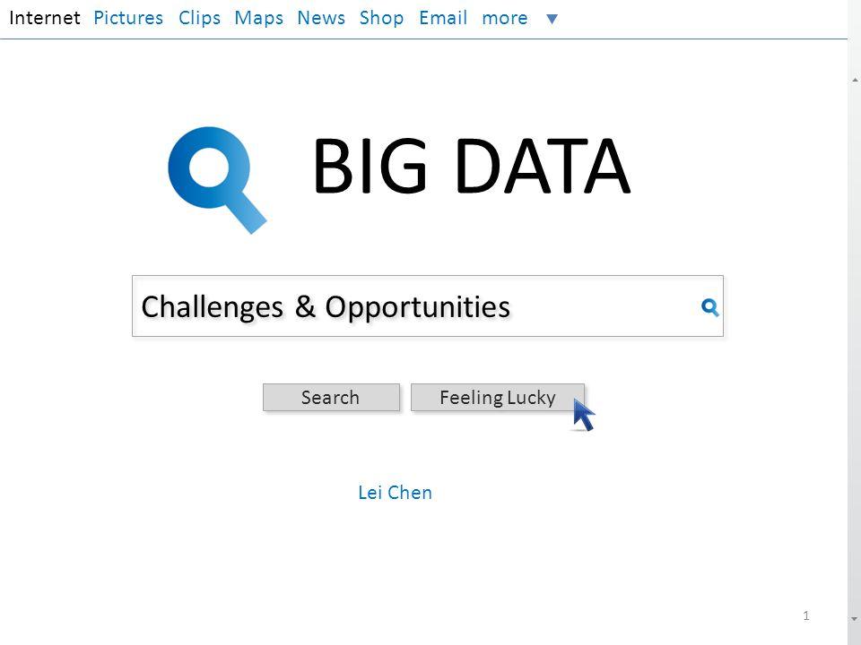 BIG DATA Challenges & Opportunities Internet