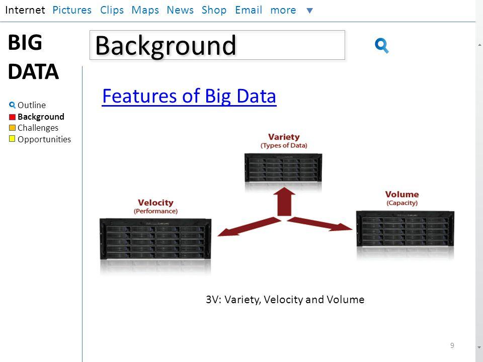 3V: Variety, Velocity and Volume