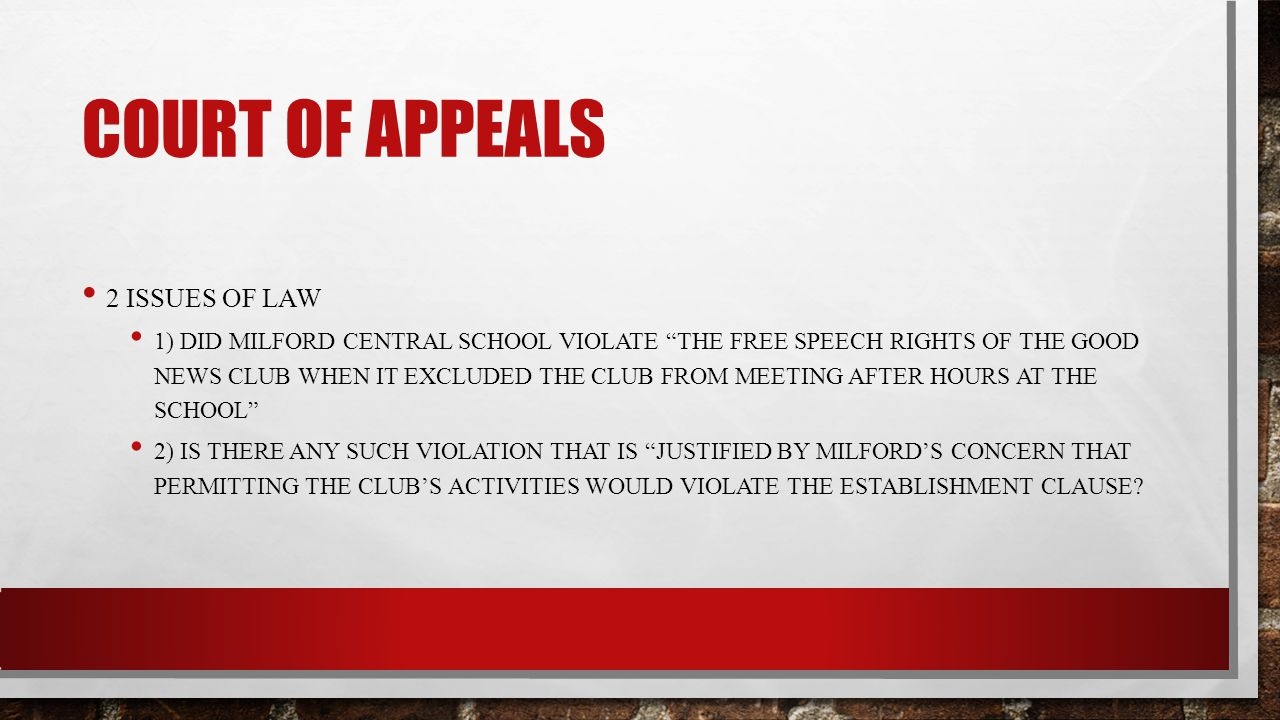 Court of appeals 2 issues of law