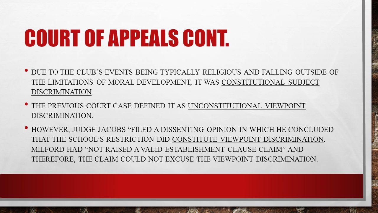 Court of appeals cont.