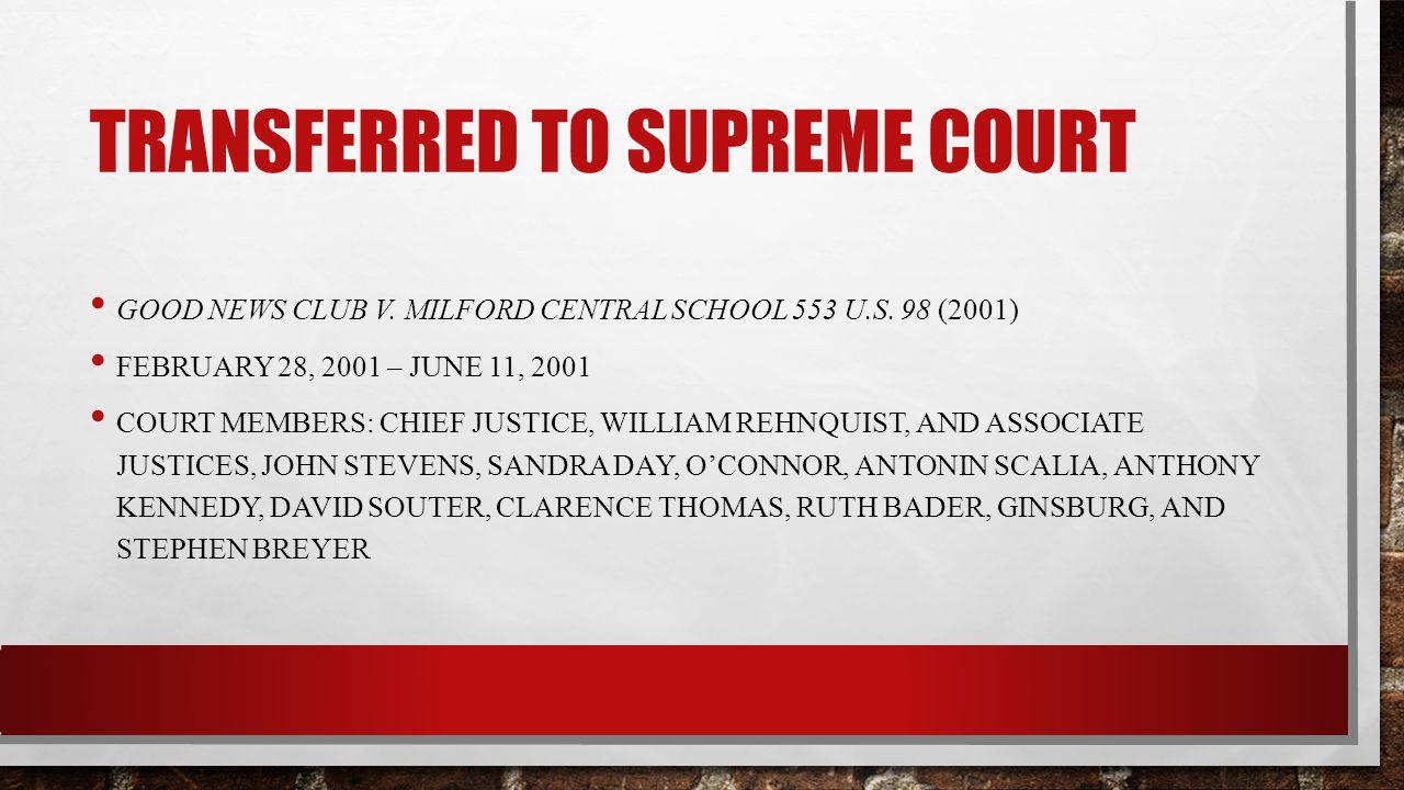 Transferred to supreme court