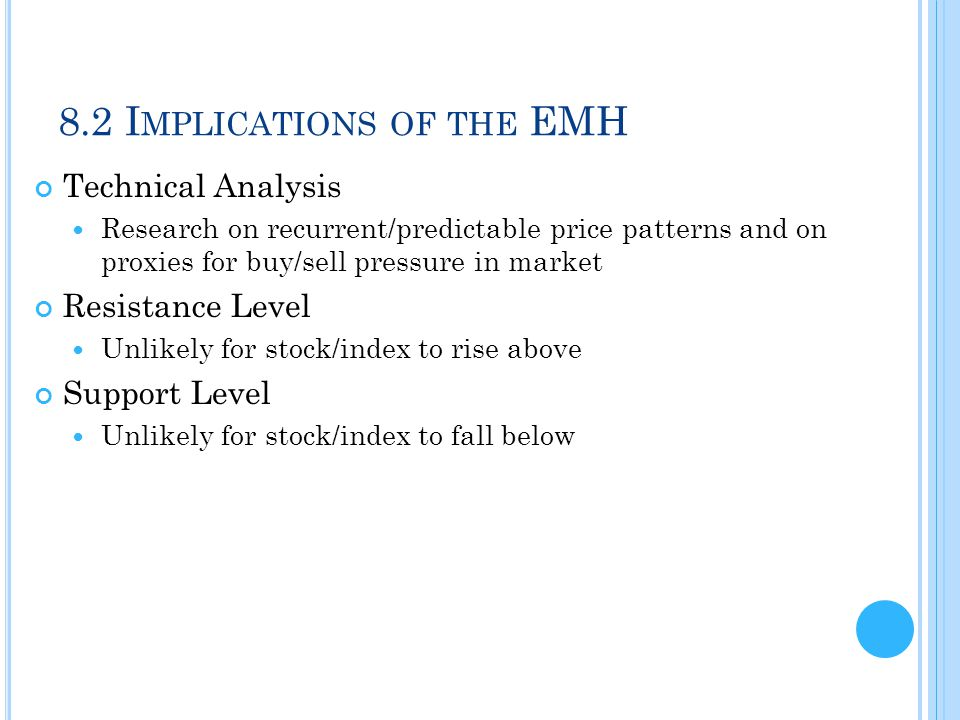 8.2 Implications of the EMH